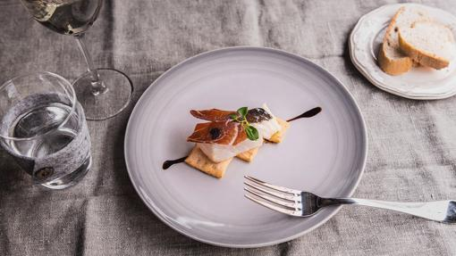 Tapa de Skrei con jamón ibérico de bellota de Cristina Lerena