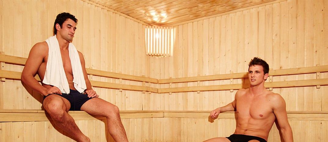 cuidado masculino sauna