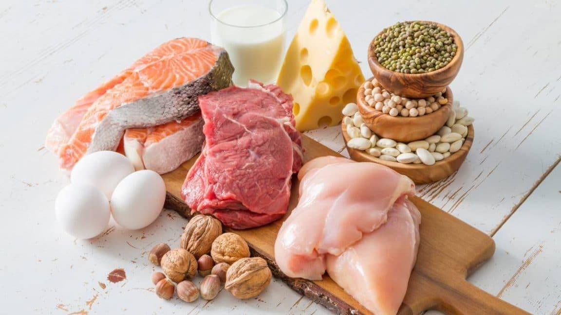 alimentación para crecimiento muscular