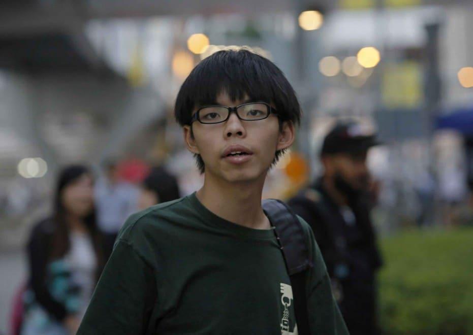 A sus 18 años, Joshua Wong es activista político y una de las figuras clave de las Protestas en Hong Kong de 2014
