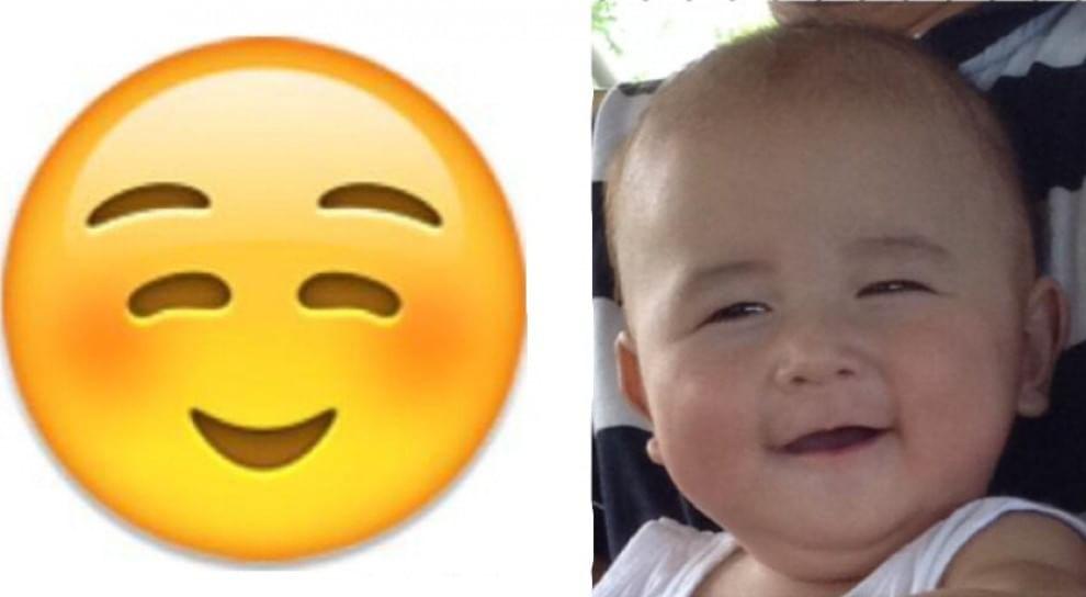 Bebés y emoticonos