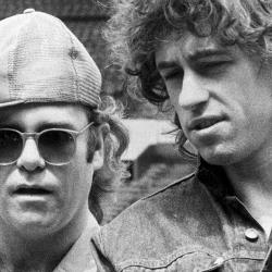 Bob Geldof, el organizador del Live Aid, con Elton John