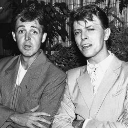 McCartney y Bowie