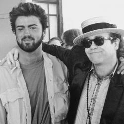 George Michael con Elton John