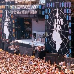 El escenario del Live Aid en Wembley