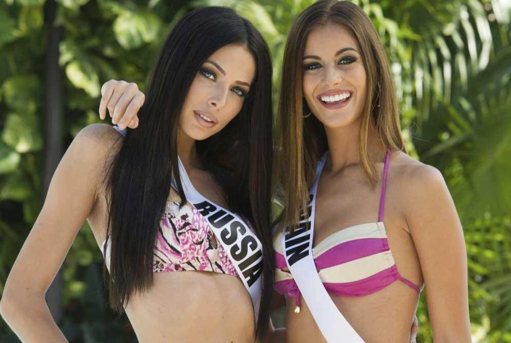 Miss Rusia y Miss España1