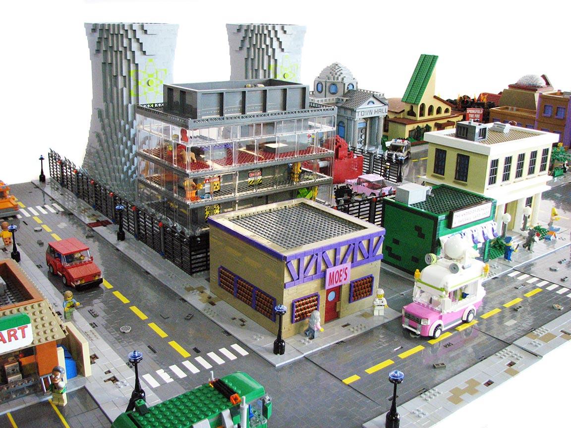 La Springfield de Lego de Matt De Lanoy