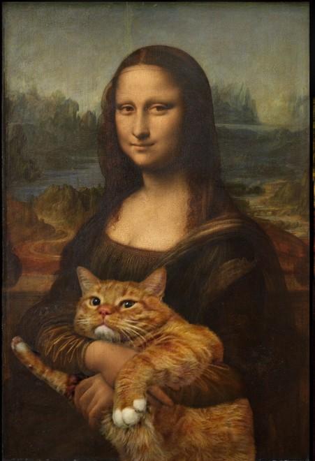 El gato con la Mona Lisa